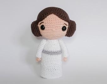 Crochet PATTERN for Princess Leia amigurumi  doll - EN -