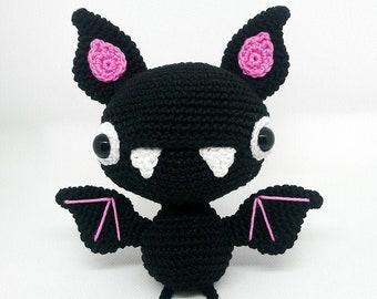 Crochet pattern for Carmilla the Vampire Bat amigurumi -  EN -
