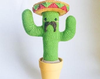 Crochet PATTERN for Mexican Cactus amigurumi - EN+FR -