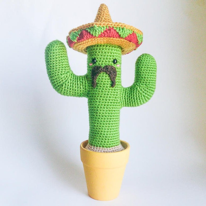 Crochet PATTERN for Mexican Cactus amigurumi  ENFR  image 0