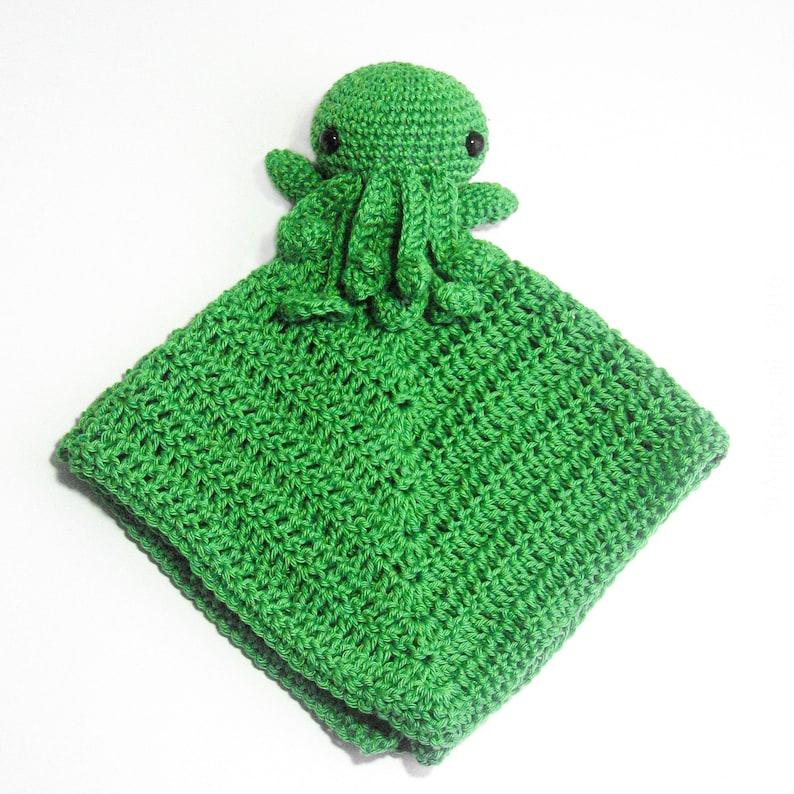 Crochet PATTERN for Cthulhu Octopus Lovey amigurumi EN  image 0