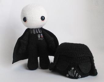 Crochet PATTERN for Darth Vader amigurumi  doll - EN+FR -
