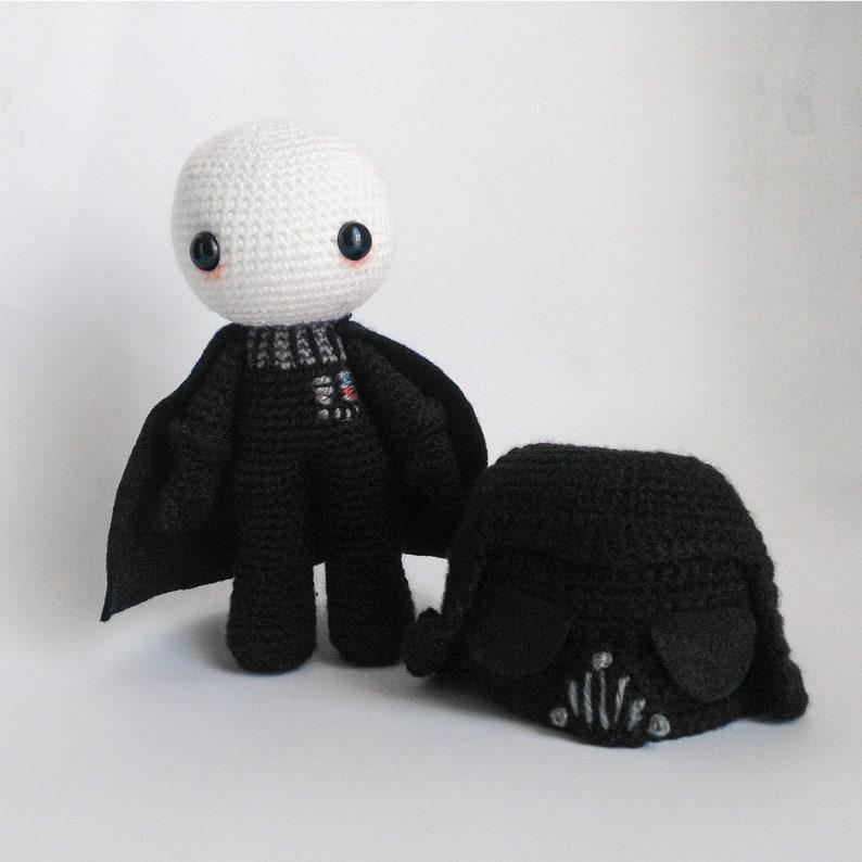 Crochet PATTERN for Darth Vader amigurumi  doll  ENFR   image 0