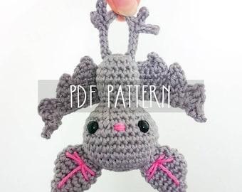 PDF PATTERN - EN - Crochet pattern for amigurumi - Baby bat - ooak