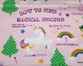Flannel Fabric - Guide to Unicorns - By the yard - 100% Cotton Flannel