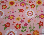 Flannel Fabric - Bloom Where You're Planted Main Pink - By the yard - 100% Cotton Flannel