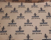 Character Flannel Fabric - Friends Fountain - By the yard - 100% Cotton Flannel