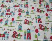 Flannel Fabric - Magic Kingdom - By the yard - 100% Cotton Flannel