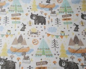 Flannel Fabric - Camping Mix - By the yard - 100% Cotton Flannel