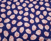 Flannel Fabric - Tossed Pigs Navy - By the yard - 100% Cotton Flannel