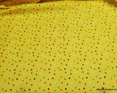 Flannel Fabric - Multi Dots on Yellow - By the Yard - 100% Cotton Flannel