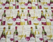 Flannel Fabric - Chateau Winery - By the yard - 100% Cotton Flannel