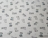 Flannel Fabric - Baby Puppies - By the yard - 100% Cotton Flannel
