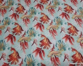 Flannel Fabric - Koi Fish - By the yard - 100% Cotton Flannel