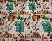 Flannel Fabric - Cabin Life - By the yard - 100% Cotton Flannel