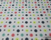 Flannel Fabric - Buttons - By the yard - 100% Cotton Flannel