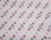 Flannel Fabric - Petunia Aztec - By the yard - 100% Cotton Flannel