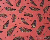 Flannel Fabric - Rainbow Feather Arrows - By the yard - 100% Cotton Flannel