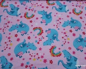 Flannel Fabric - Dragons and Rainbows - By the yard - 100% Cotton Flannel