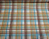 Flannel Fabric -Woodland Tykes Plaid - By the yard - 100% Cotton Flannel