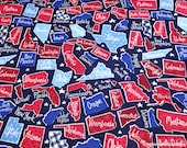 Flannel Fabric - Patriotic States - By the yard - 100% Cotton Flannel