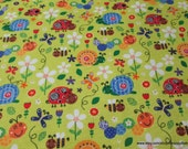 Flannel Fabric - Nature Friends - By the yard - 100% Cotton Flannel