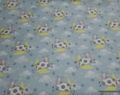 Flannel Fabric - Cow Jumped Over the Moon - By the yard - 100% Cotton Flannel