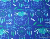Flannel Fabric - Wild Free Dreamcatcher - By the yard - 100% Cotton Flannel