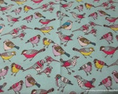 Flannel Fabric - Songbirds - By the yard - 100% Cotton Flannel