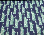 Flannel Fabric - Statue of Liberty - By the yard - 100% Cotton Flannel