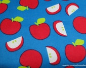 Flannel Fabric - Apples - By the yard - 100% Cotton Flannel