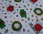 Character Christmas Flannel Fabric - Peanuts Snoopy Christmas - By the Yard - 100% Cotton Flannel
