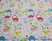 Flannel Fabric - Pattern Trap Dino - By the Yard - 100% Cotton Flannel