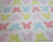 Flannel Fabric - Butterflies - By the yard - 100% Cotton Flannel