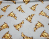 Flannel Fabric - Mumma Roo Gray - By the yard - 100% Cotton Flannel