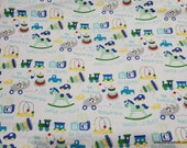 Flannel Fabric - Baby Toys - By the Yard - 100% Cotton Flannel