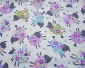 Flannel Fabric - Kidston Spring Lilac - By the yard - 100% Cotton Flannel