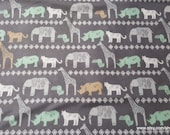 Flannel Fabric - Safari Animal Lines - By the Yard - 100% Cotton Flannel