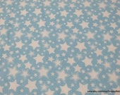 Flannel Fabric - Starry Nights Dreamy Blue - By the yard - 100% Cotton Flannel