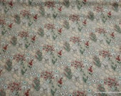 Flannel Fabric - Floppy Garden Floral - By the yard - 100% Cotton Flannel