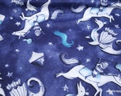 Flannel Fabric - Knights and Dragons - By the yard - 100% Cotton Flannel