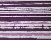 Flannel Fabric - Purple Magic Stripe TieDye - By the yard - 100% Cotton Flannel
