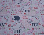 Flannel Fabric - Little Lamb - By the yard - 100% Cotton Flannel