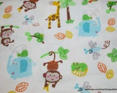 Flannel Fabric - Jungle Boys - By the yard - 100% Cotton Flannel