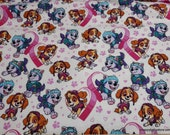 Character Flannel Fabric - Paw Patrol Pawfect Friends - By the yard - 100% Cotton Flannel