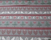 Christmas Flannel Fabric - Nature Winter Knit - By the yard - 100% Cotton Flannel