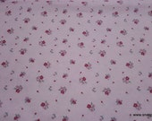 Flannel Fabric - Princess Pink Floral - By the yard - 100% Cotton Flannel