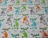 Flannel Fabric - Monkeys and Bananas - By the yard - 100% Cotton Flannel