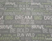Flannel Fabric - Boone Inspirational Words - By the yard - 100% Cotton Flannel