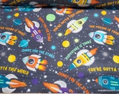 Flannel Fabric - Out of This World - By the yard - 100% Cotton Flannel